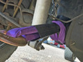 Purple Polyester Axle Strap with Sleeve Protector - 3 Foot Choker Hold