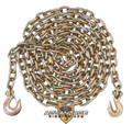 "3/8"" - Grade 70 Binder Chain - Slip Hook and Grab Hook - 20' Length"