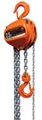 Elephant Super 100 Manual Chain Hoist with Top Hook Mount and Overload Protection - 15' lift - 1 Ton
