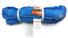 Blue Endless Polyester Round Sling Tubular 16' Long