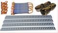 E-Track Transport Package - 4 Rails, 4 Tie Downs, 4 Tie offs, 4 16' Straps
