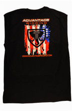 Weathered American Flag Advantage Rigging T-Shirt (Back)