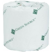 Standard Bathroom Tissue exceeds the most stringent environmental standards. Ideal for use in offices, industrial facilities, schools, hotels, hospitals, food service and more. Made from 100% recycled material, with minimum 60% post-consumer content. White color finish. 500 sheets per roll, sold 96 rolls per case.