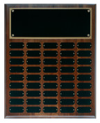 45 Plate Solid Walnut Perpetual Plaque - Free Engraving