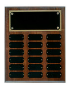 18 Plate Solid Walnut Perpetual Plaque - Free Engraving
