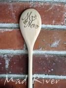 Cute Custom Laser Engraved Wooden Spoon