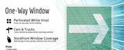 One Way Window Decal - Perforated White Per Square Foot