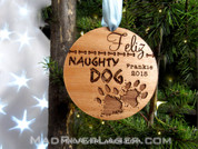 Feliz Naughty Dog Custom Christmas Ornament