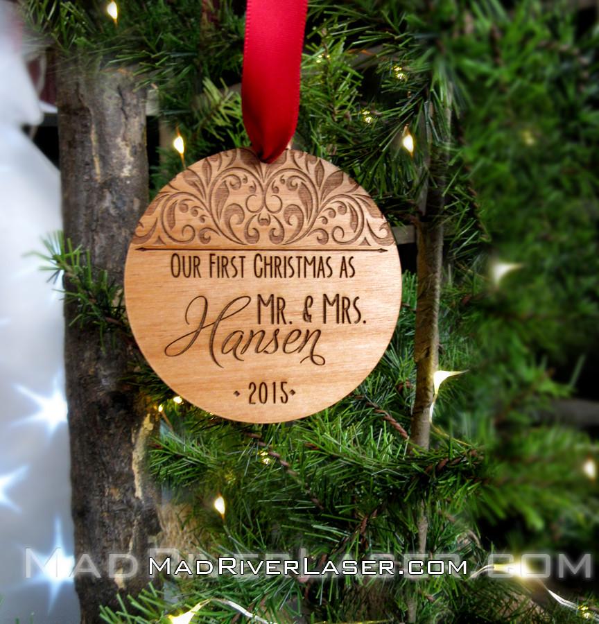 Custom Christmas Ornaments.Our First Christmas As Custom Ornament