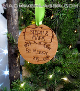 Couples custom Christmas Ornament