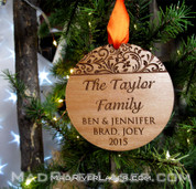 Your Family Custom Christmas Ornament
