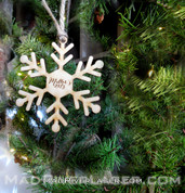 Custom Name Snowflake Ornament