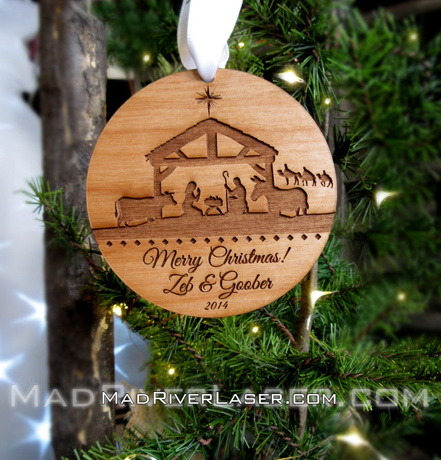 Bulk Christmas Ornaments.Bulk Order Nativity Custom Ornament 9 95 Each