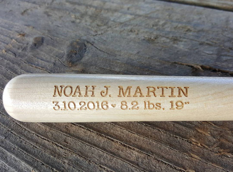 laser engraved baseball bat, 10 inches