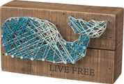 String Art - Live Free Whale