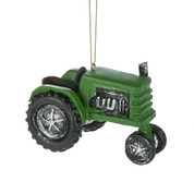 Green Tractor Ornament