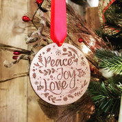 Peace Joy Love Ornament