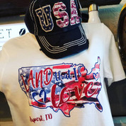 USA Distressed Cap (black)