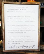 Our Song farmhouse sign