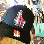Idaho plaid patch cap