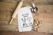 Cats have Staff Flour Sack Dish Towel