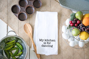 Dancing Flour Sack Dish Towel