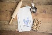 Crazy Chicken Lady Flour Sack Dish Towel