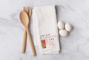 Bloody Mary Flour Sack Dish Towel