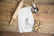 Two Things Unicorn Flour Sack Dish Towel