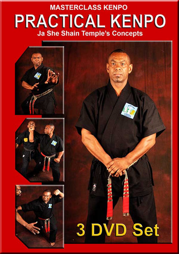 """MASTERCLASS  3 DVD Set  PRACTICAL KENPO – VOL. 1-2-3 Ja She Shain Temple's Concepts """