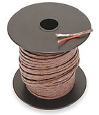 Type J 20 gauge thermocouple wire, 250 foot spool.  Fiberglass jacket