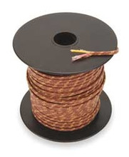 Type K 20 guage thermocouple wire, 250 foot spool.  Fiberglass jacket
