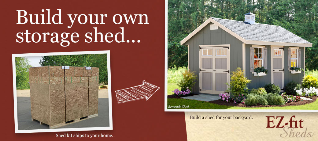 Shed kits for your backyard