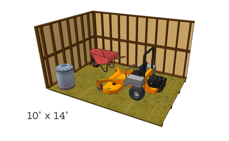 10x14 storage shed sizing chart