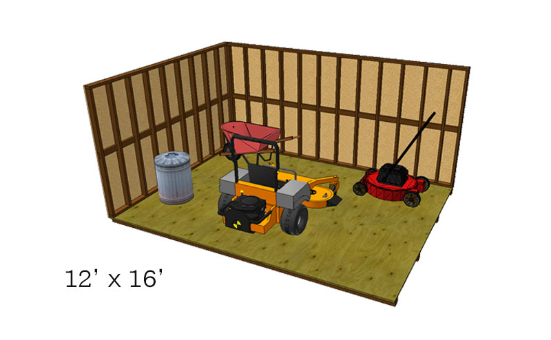 12x16 Barn Layout
