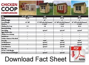 EZ Fit Sheds comparison sheet