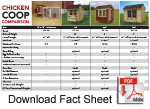 EZ Fit Sheds comparison sheet