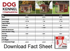 Download Dog Kennel Fact Sheet