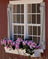 Riverside Shed Window Shutters with Flower Boxes | EZ Fit Sheds, Amish Country Winesburg, Ohio