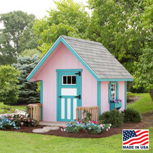 EZ - Fit A-Frame 6x6 Painted Playhouse built by EZ Fit Sheds in Amish Country Ohio