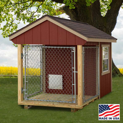 dog kennel 5 x 8 with outside run ez fit sheds wilmot ohio