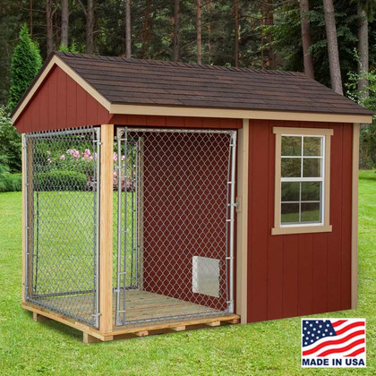 dog kennel 6 x 10 with outside run ez fit sheds wilmot ohio