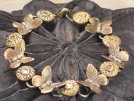 Fluttering Antiqued Butterfly Charm Bracelet