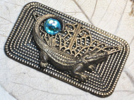 Alligator Love Vintage Pin