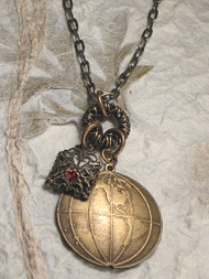 Long Distance Love Affair Travel Globe Charm Necklace