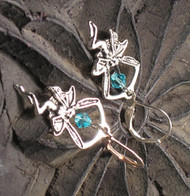 A Fairy & A Glistening Turquoise Crystal Earring
