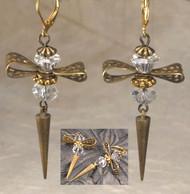 Beautiful Bow Crystal Crystal Earrings