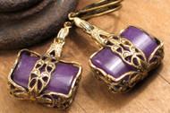 Amethyst Agate Package Earrings