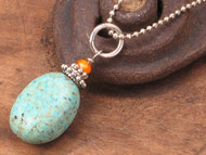 Fresh Turquoise Howlite Stone Pendant