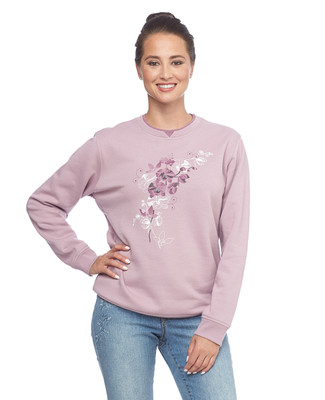NEW - Floral Gems Notch Sweatshirt